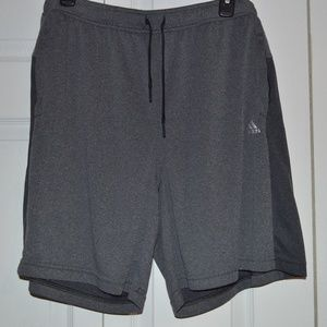 Adidas Men;s XL Gray Climacool Athletic Shorts